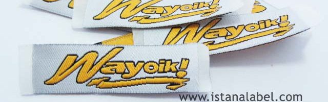 Woven Label Baju Murah | Label Satin | Merk Pakaian by. IstanaLabel.com