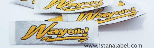 Woven Label Baju Murah   Label Satin   Merk Pakaian by. IstanaLabel.com